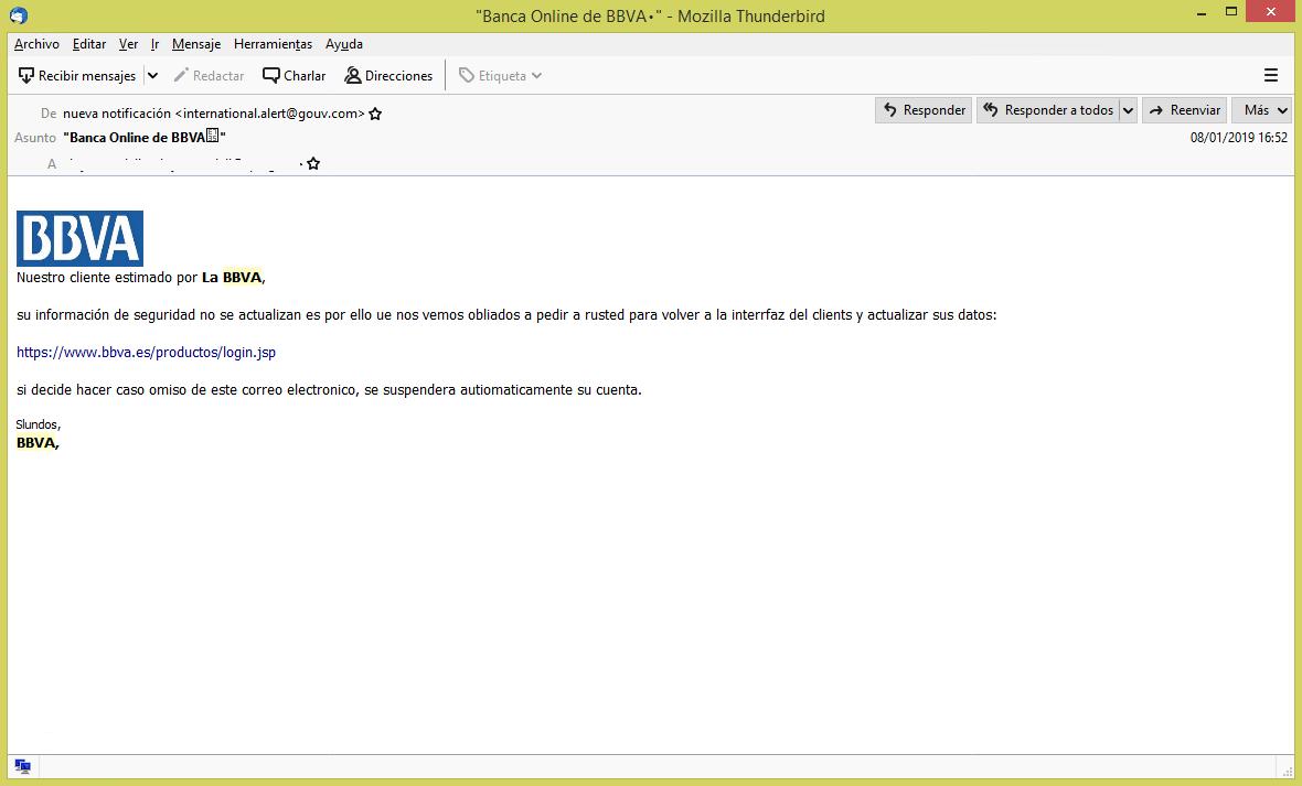 Nueva estafa a través del email