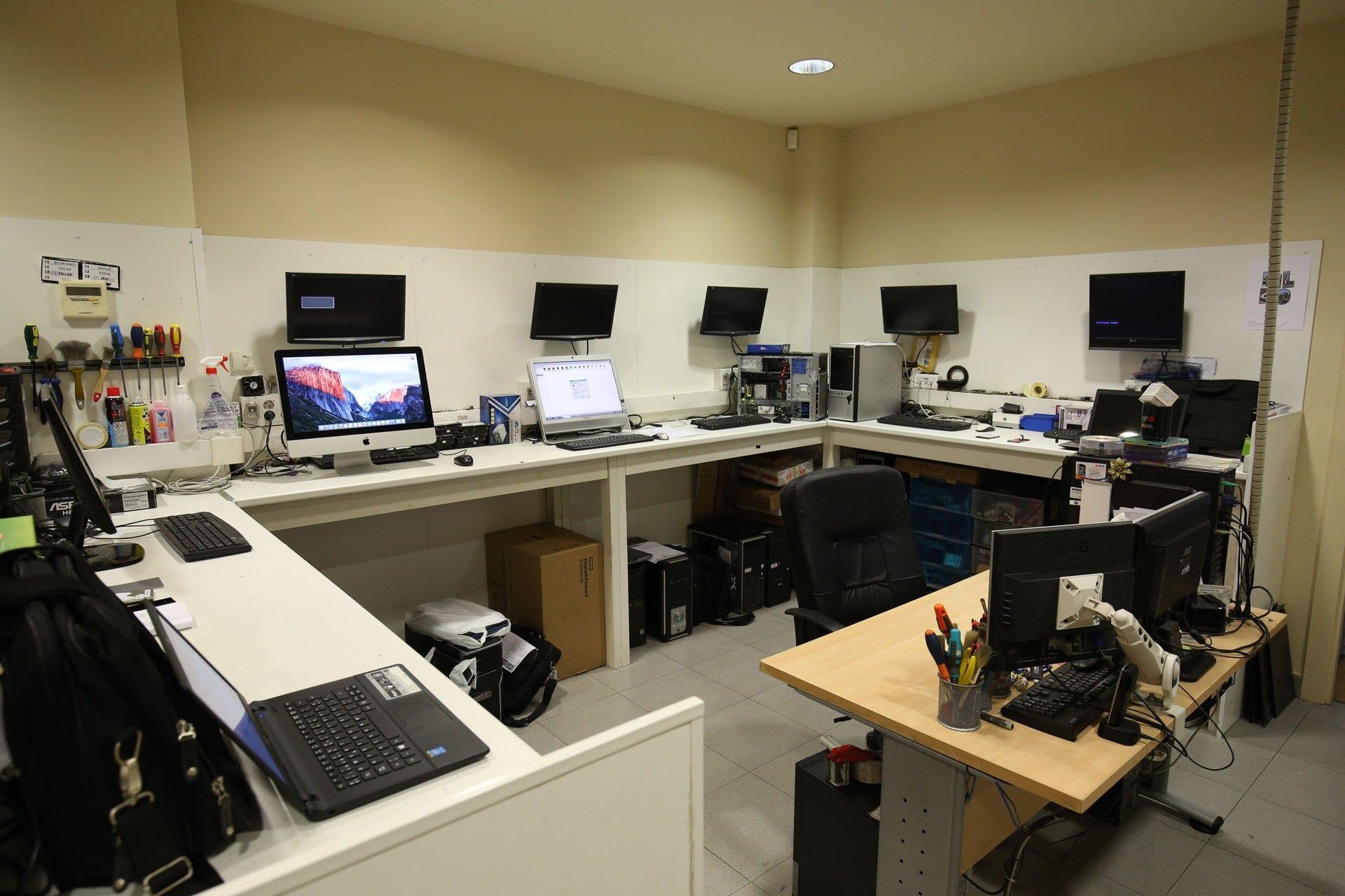 taller de reparación de ordenadores