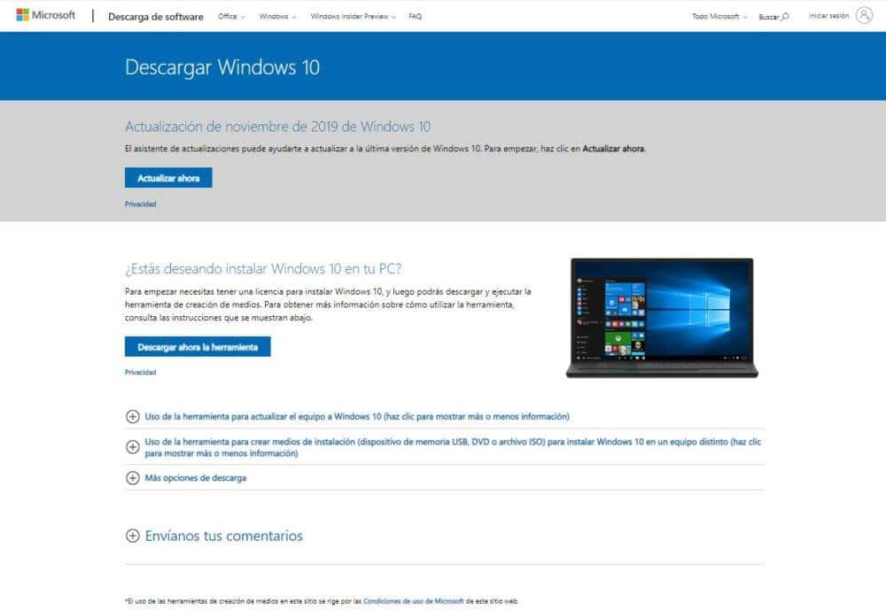 actualizar windows 7 a windows 10